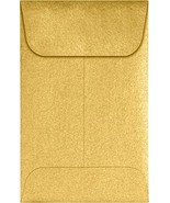 #1 Coin Envelopes 2 1/4 x 3 1/2 - Gold Metallic 1000 Qty. | Perfect for ... - $125.03