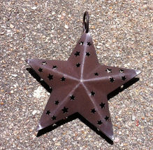 2471-12  Metal Rustic Primitive Star Brown orna... - $2.25