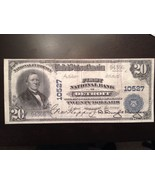 Reproduction $20 National Bank Note 1902 First National Bank Of Detroit, MI - $2.96
