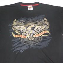 XL Avirex Mens Black T Shirt Classics Golden Eagle Embroidered Dragons B... - $14.81
