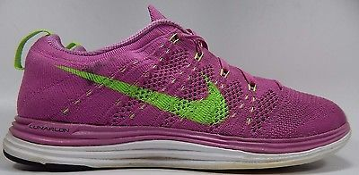 Nike Flyknit Lunar 1 Women's Running Shoes Sz US 8.5 M (B) EU 40 Pink 554888-631