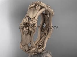 14kt rose gold leaf and vine, floral wedding band ADLR105B - $795.00