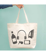Funny Random Personal Belongings Canvas Bag Mother's Day Gifts Grocery Bags - $15.99