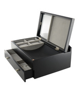 Top Quality Men's Black Wood Valet Storage Box ... - $79.00