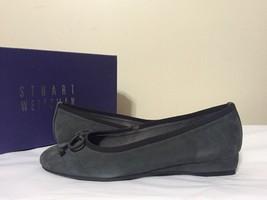 Stuart Weitzman Quilt Slate Suede Women's Low Heel Slip On Pumps Size 7.5 M - $109.49