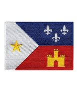 Cajun Flag Embroidered Patch Acadiana New Orleans Louisiana Iron-On Emblem - $3.99