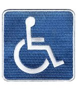 Handicapped Logo Sign Embroidered Patch Iron-On Disabled Highway Road Bi... - $3.99