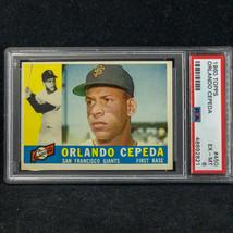 1960 Topps 450 Orlando Cepeda, San Francisco - EXCELLENT-MINT Psa 6 - $69.25