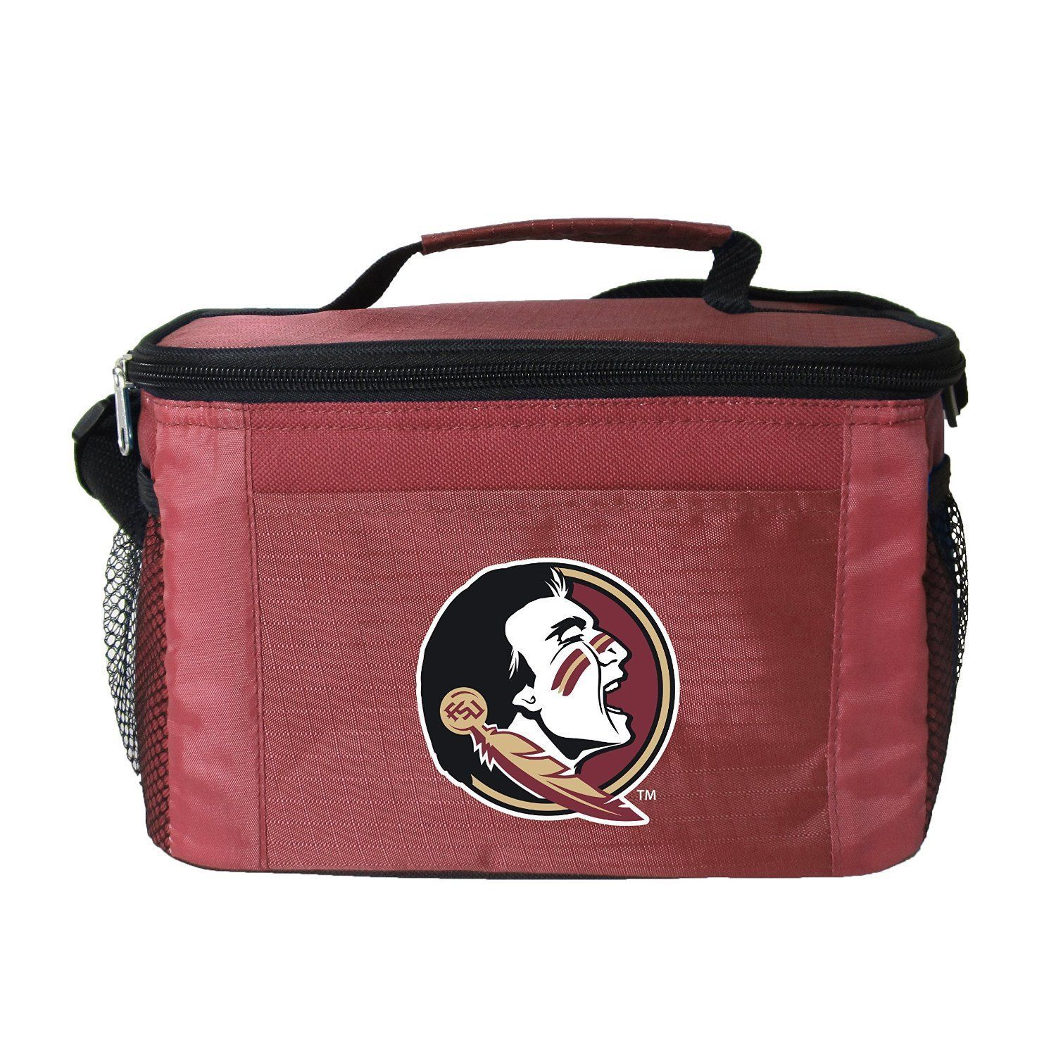 FLORIDA STATE SEMINOLES LUNCH TOTE 6 PK BEER SODA TEAM LOGO KOOLER BAG NCAA