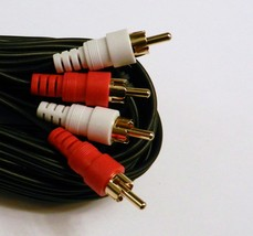 25 Ft 2 Rca / 2 Rca Premium Gold Stereo Audio Cable Cord - $7.43