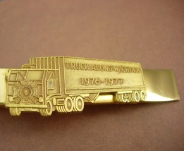 Vintage advertising tie clip truck along with chuck veteran of foreign w... - $95.00