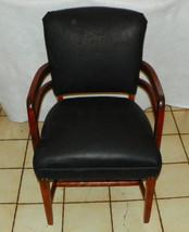 Cherry Black Leather Armchair / Office Chair  (BM) - $399.00