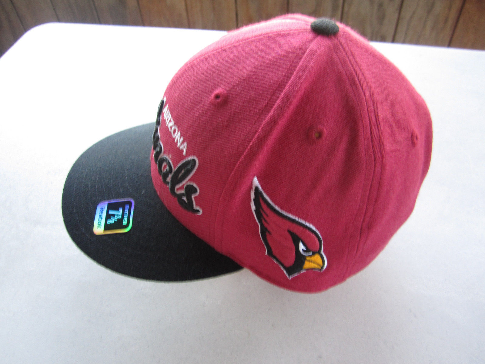 ARIZONA CARDINALS REEBOK NFL SCRIPT FITTED CAP HAT 7 3 8 NEW WITH TAGS RARE 908115843695
