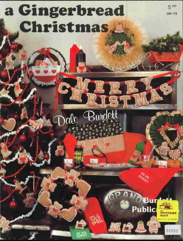 Dale burdett a gingerbread christmas cross stitch