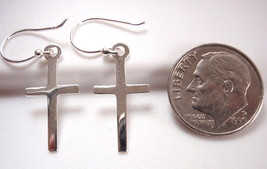 Cross Dangle Earrings 925 Sterling Silver Corona Sun Jewelry - $7.91