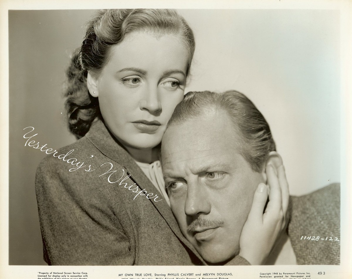 RARE Phyllis CALVERT Melvyn DOUGLAS My OWN True LOVE Original 1949 Movie Photo