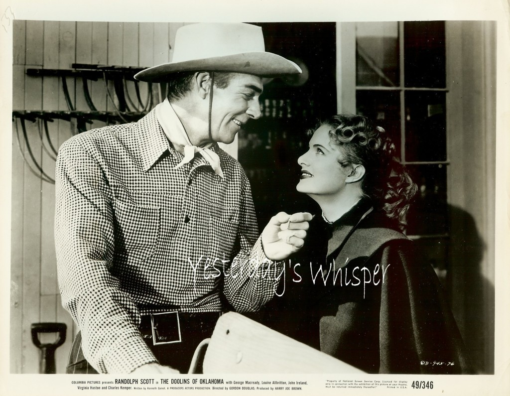 Randolph SCOTT Louise ALLBRITTON The DOOLINS of OKLAHOMA Original 1949 Photo