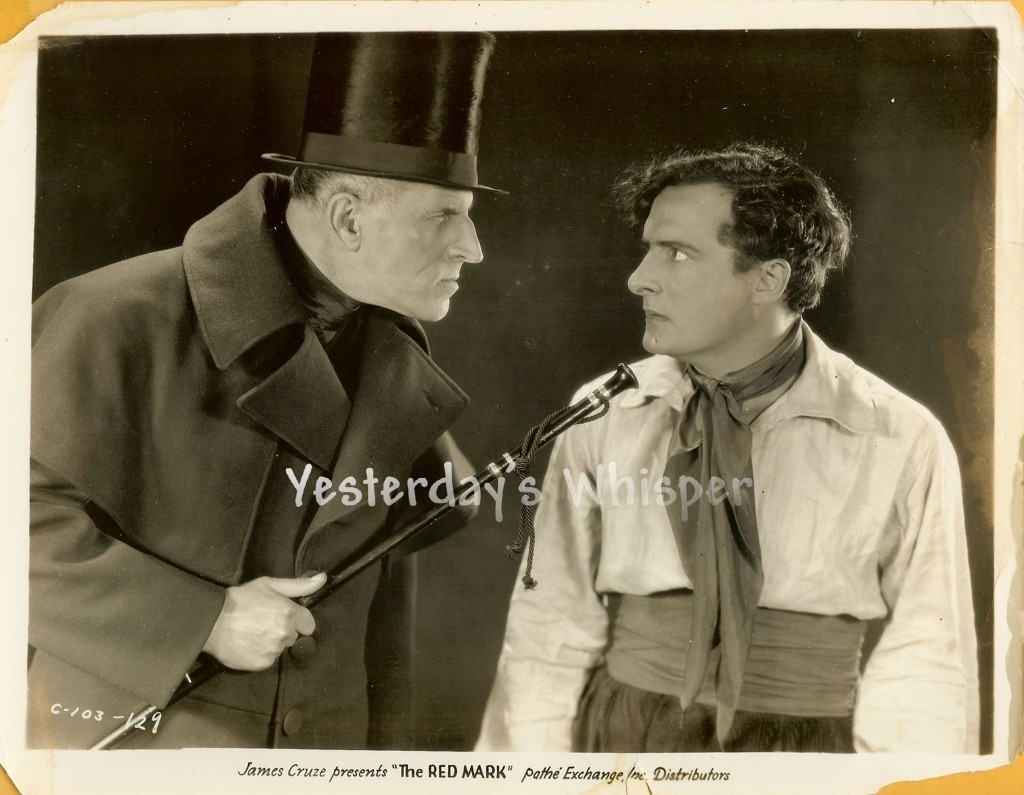 Rare JAMES CRUZE The RED MARK Gustav von Seyffertitz GASTON GLASS Original Photo