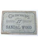 Gaudichauds Sandal Wood extract antique advertising box patent medicine ... - $29.00