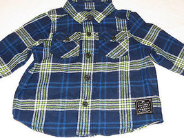 Boys baby Youth Quiksilver 12M 12 months button up L/S shirt BTE0 Mediev... - $38.60