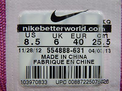Nike Flyknit Lunar 1 Women's Running Shoes Sz US 8.5 M (B) EU 40 Pink 554888-631