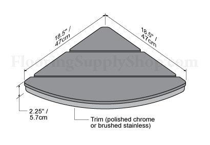 Invisia Corner Shower Seat Polished Chrome