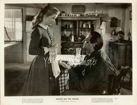 Robert MITCHUM Western Barbara Bel GEDDES Original 1949 RKO Radio Photo
