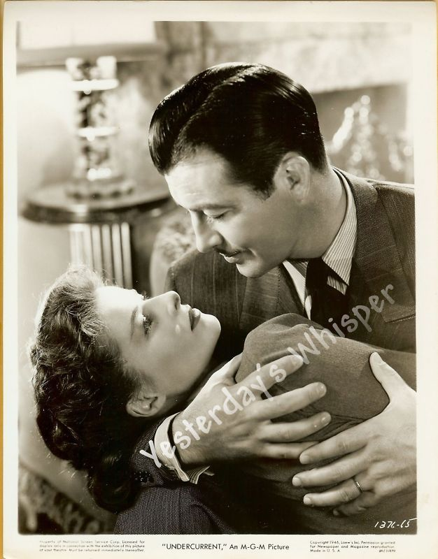 Robert Taylor Katharine Hepburn UNDERCURRENT Org Photo