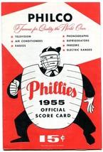 Philadelphia Phillies v Milwaukee Baseball Game Program-MLB scored- 1955 - $31.04