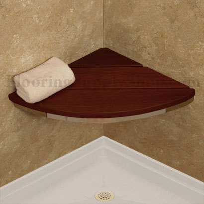 Invisia Corner Shower Seat Brushed Nickel