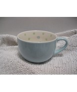 Pastel blue Starbucks Coffee Mug w/ green polka-dots little flower 2005 - €20,29 EUR