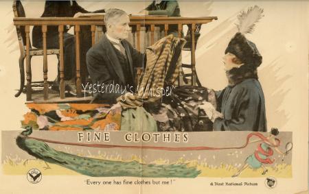 Tragic Alma Rubens Fine Clothes '24 Original Lobby Card