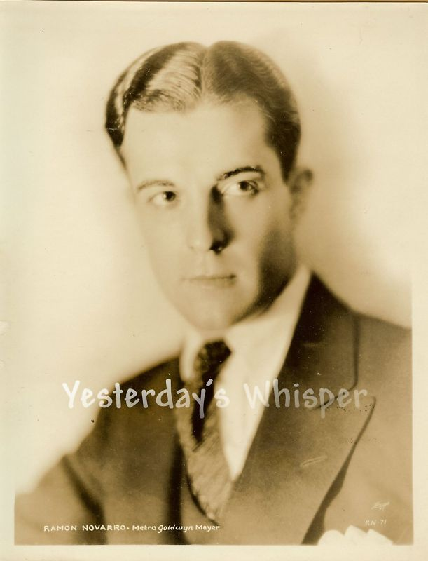 Tragic Ramon Novaaro Young Original MGM Portrait Photo