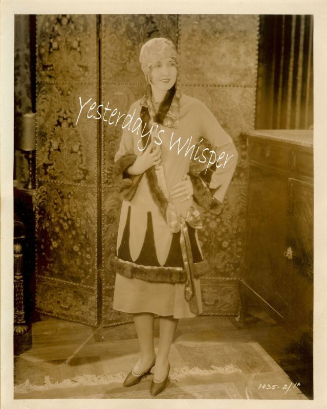Unidentified Famous Lasky Silent Film Actress Org Photo