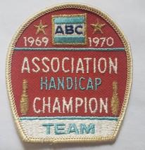 American Bowling Congress ABC Association HANDICAP Champion 1969 1970 patch - $4.95