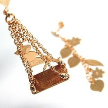Drop Earrings Silver 925, Leaves, Flowers, Girl on Swing, Le Favole image 2