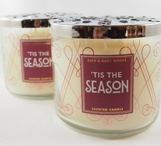 (2) Bath & Body Works 'Tis the Season 3-wick Scented Candle 14.5oz - $29.69