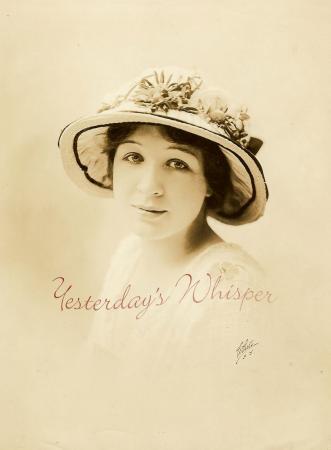 Unknown Unidentified c1916 Opera Diva White NY Photo