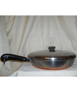 "1949-1968 Revere Ware Thick Copper Clad 12"" Chi... - $124.95"