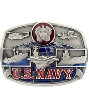 US Navy Colored Cast Belt Buckle  - $14.99