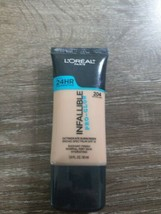 L'OREAL INFALLIBLE PRO-GLOW 24HR FOUNDATION SPF 15 ~ #204 NATURAL BUFF - $9.85