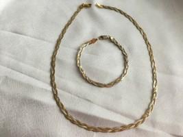 "Ladies Sterling Silver Tri color braid 18"" necklace and 7.5"" bracelet set - $56.64"