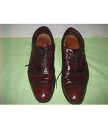 ALLEN EDMONDS Mc Allister Cordovan(Red)Oxford Lace-up Wing-tip Dress Sho... - $55.00