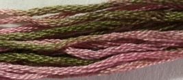 Wild Rose 6 strand hand dyed embroidery floss 5yd skein Ship's Manor  - $2.00