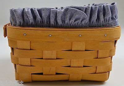 Longaberger 1997 Medium Signed Berry Basket Combo With Liner And Protector Decor