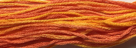 Orange Grove 6 strand hand dyed embroidery floss 5yd skein Ship's Manor  - $2.00