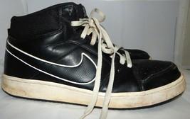 NIKE Backboard II Basketball Shoes Black Leather 487656-006 SZ 12 - $13.85