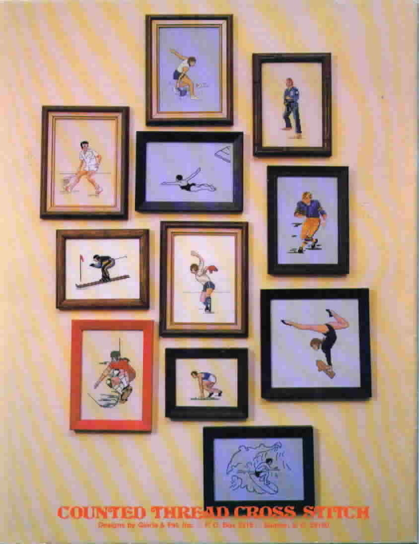 Vintage Designs by Gloria & Pat Sports That Count Cross Stitch