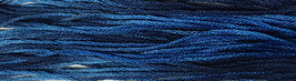 Bonnie's Blue 6 strand hand dyed embroidery floss 5yd skein Ship's Manor  - $2.00