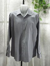 Men Joseph Abboud Long Sleeve Multi Color Striped Dress Shirt Sz: L 42/44 - $24.86 CAD